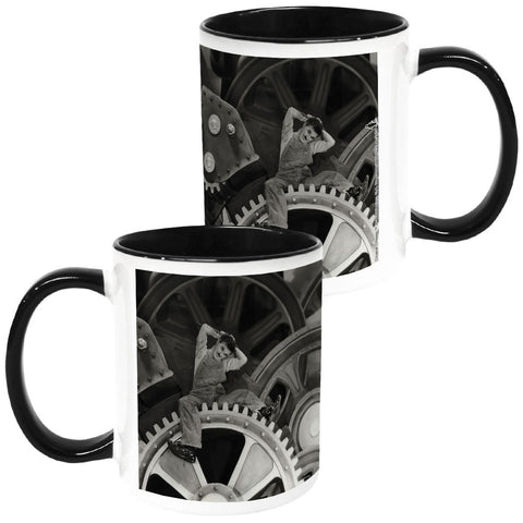 Charlie Chaplin Cogs Coloured Insert Mug