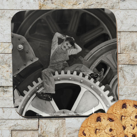 Charlie Chaplin Cogs Coaster (Lifestyle)