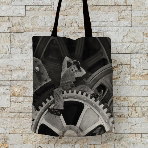 Charlie Chaplin Cogs Premium Tote (Lifestyle)