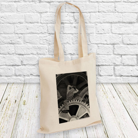 Charlie Chaplin Cogs Tote Bag (Lifestyle)