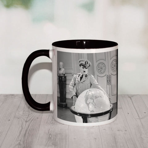Charlie Chaplin The Great Dictator 2 Coloured Insert Mug (Lifestyle)