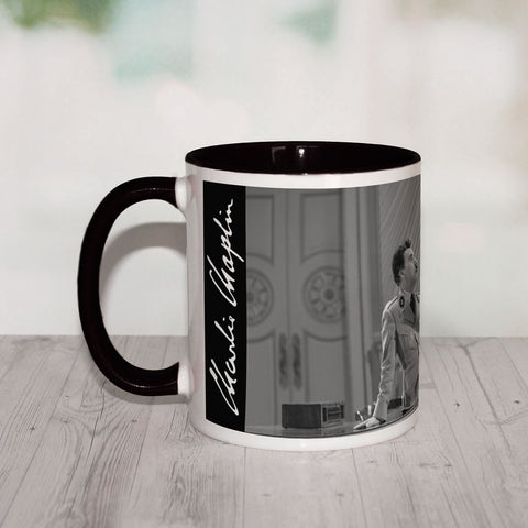 Charlie Chaplin The World Coloured Insert Mug (Lifestyle)
