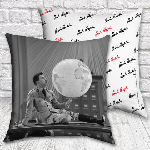 Charlie Chaplin The World Cushion (Lifestyle)