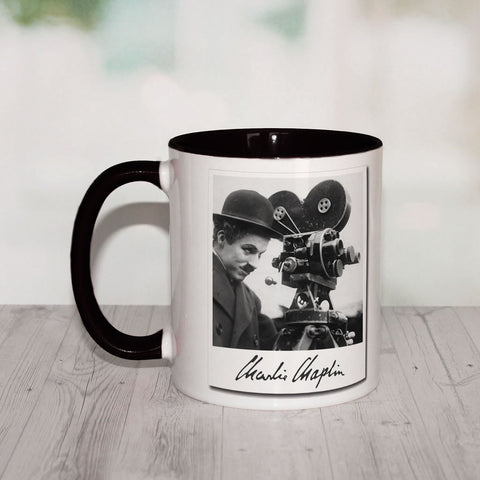Charlie Chaplin Director Coloured Insert Mug (Lifestyle)