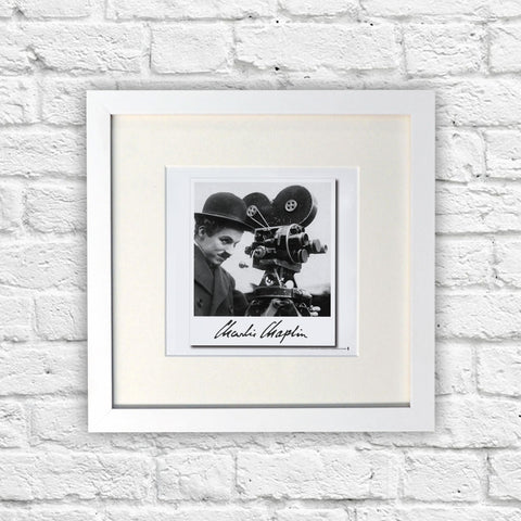 Charlie Chaplin Director White Framed Print (Lifestyle)
