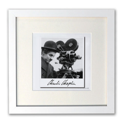 Charlie Chaplin Director White Framed Print