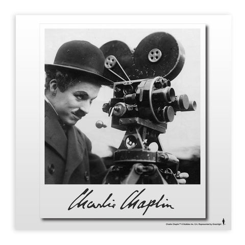Charlie Chaplin Director Mounted Art Print