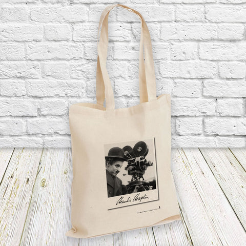Charlie Chaplin Director Tote Bag (Lifestyle)