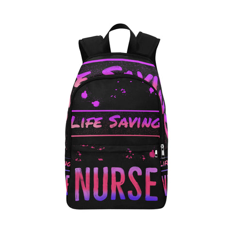 Pink & Purple Lifesaving Nurse Backpack