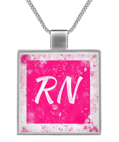 Hot Pink RN 🚨 Necklace
