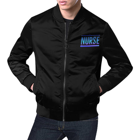 Blue Font Male Nurse Jacket