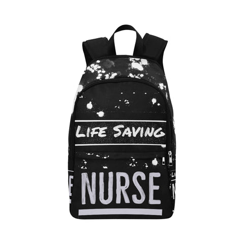 Life Saving Nurse B&W Backpack