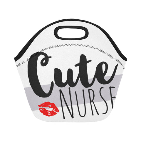 Cute Nurse Neoprene Lunch Bag