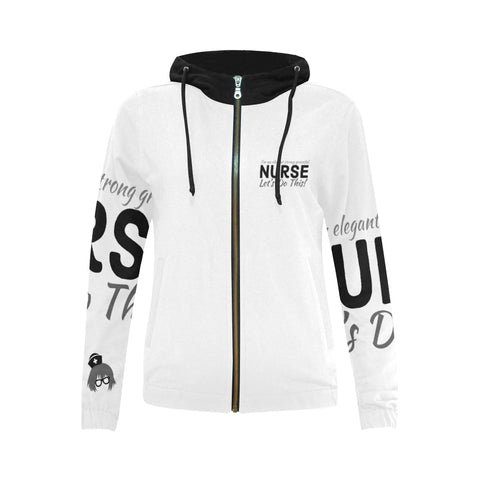 Strong Nurse Zip Up Hoodie