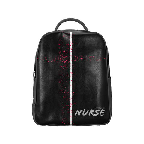 Leather Pink Noise Nurse Backpack