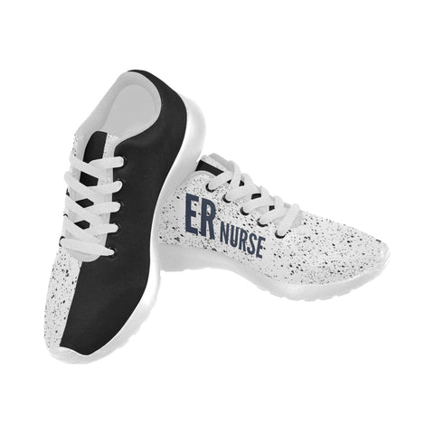 ER Nurse One Side Splatter Women's Sneakers