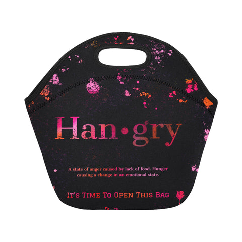 Pinkish Hangry Neoprene Lunch Bag