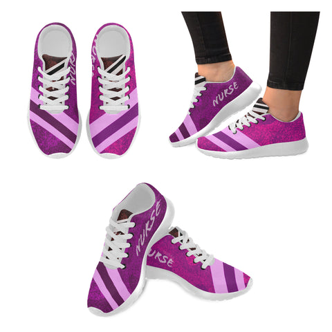 Pink Stripe Nurse Women's Sneakers