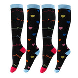 Legging Support Compression Socks Electrocardiogram