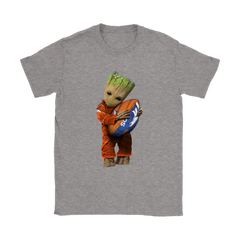 3D Groot I Love Denver Broncos NFL Football Shirts Women T-Shirt - Catsolo.com