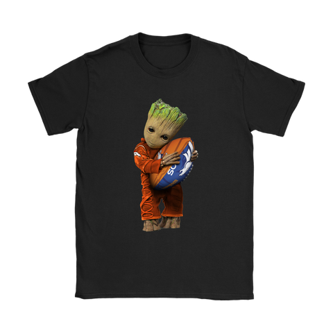 3D Groot I Love Denver Broncos NFL Football Shirts Women S / Black / Women T-Shirt - Catsolo.com