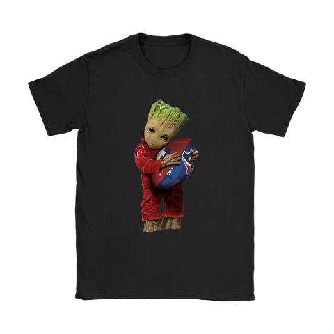 3D Groot I Love Houston Texans NFL Football Shirts Women S / Black / Women T-Shirt - Catsolo.com