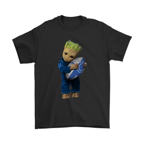3D Groot I Love Indianapolis Colts NFL Football Shirts S / Black / Men T-Shirt - Catsolo.com