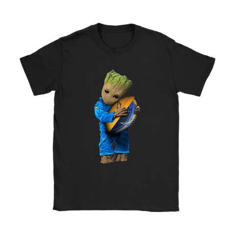 3D Groot I Love Los Angeles Chargers NFL Football Shirts Women S / Black / Women T-Shirt - Catsolo.com