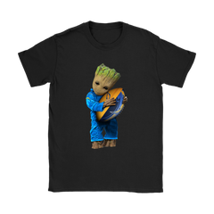 3D Groot I Love Los Angeles Chargers NFL Football Shirts Women T-Shirt - Catsolo.com