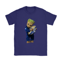 3D Groot I Love Los Angeles Rams NFL Football Shirts Women T-Shirt - Catsolo.com