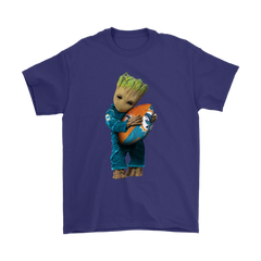 3D Groot I Love Miami Dolphins NFL Football Shirts T-Shirt - Catsolo.com