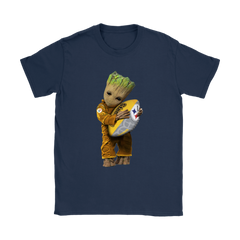 3D Groot I Love Pittsburgh Steelers NFL Football Shirts Women T-Shirt - Catsolo.com