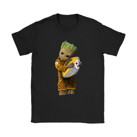 3D Groot I Love Pittsburgh Steelers NFL Football Shirts Women S / Black / Women T-Shirt - Catsolo.com