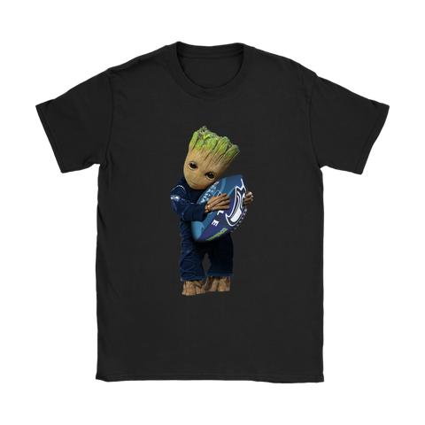3D Groot I Love Seattle Seahawks NFL Football Shirts Women S / Black / Women T-Shirt - Catsolo.com