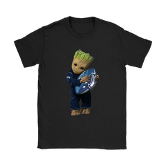 3D Groot I Love Seattle Seahawks NFL Football Shirts Women T-Shirt - Catsolo.com