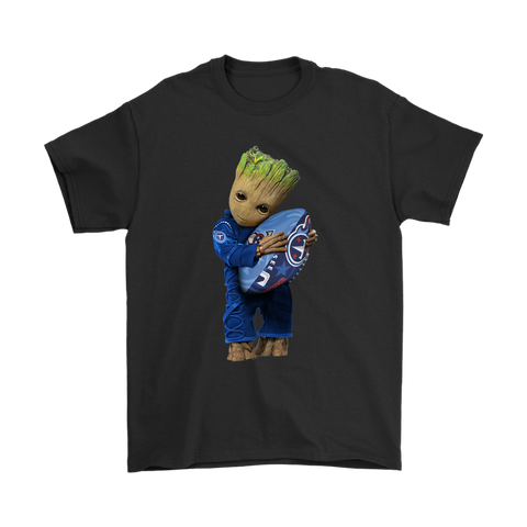 3D Groot I Love Tennessee Titans NFL Football Shirts S / Black / Men T-Shirt - Catsolo.com