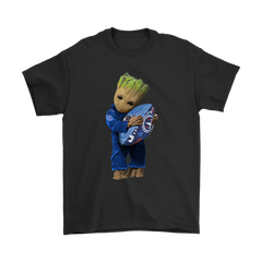 3D Groot I Love Tennessee Titans NFL Football Shirts T-Shirt - Catsolo.com