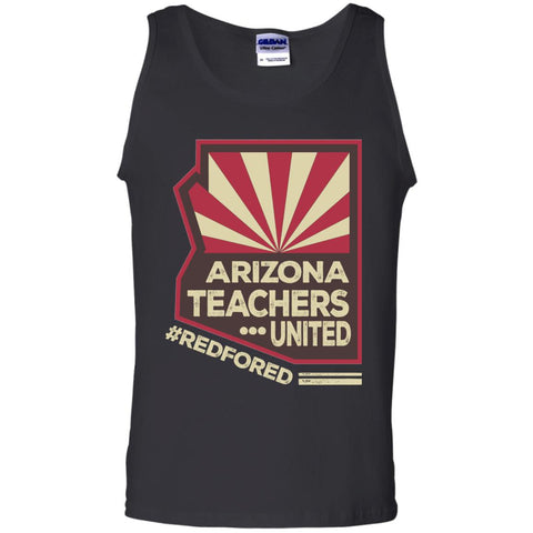 Arizona Teacher  - Red For Ed Black / S G220 Gildan 100% Cotton Tank Top - Catsolo.com
