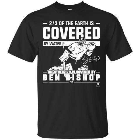 Ben Bishop Of The Earth Is Covered By Water T shirt T-Shirts S / Black / G200 Gildan Ultra Cotton T-Shirt T-Shirt - Catsolo.com