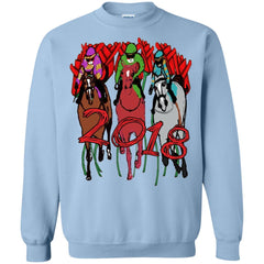 2018 Kentucky Derby Horse Racing Light Blue G180 Gildan Crewneck Pullover Sweatshirt 8 oz. G180 Gildan Crewneck Pullover Sweatshirt 8 oz. - Catsolo.com