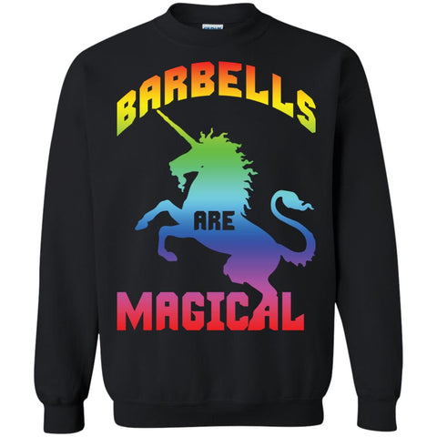 Barbells Are Magical Gym Unicorn Shirt Black / S G180 Gildan Crewneck Pullover Sweatshirt 8 oz. - Catsolo.com
