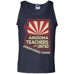 Arizona Teacher  - Red For Ed G220 Gildan 100% Cotton Tank Top - Catsolo.com