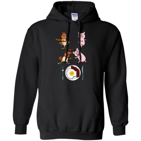 Bacon & Eggs  Chicken And Pig Fusion Black / S G185 Gildan Pullover Hoodie 8 oz. - Catsolo.com