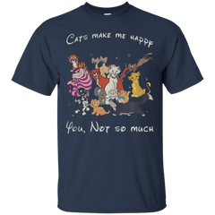 Animal Disney Cats make me happy you not so much T shirt T-Shirts T-Shirt - Catsolo.com