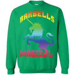 Barbells Are Magical Gym Unicorn Shirt G180 Gildan Crewneck Pullover Sweatshirt 8 oz. - Catsolo.com