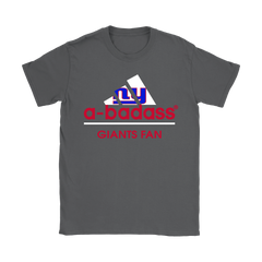 A-badass New York Giants Mashup Adidas NFL Shirts Women T-Shirt - Catsolo.com