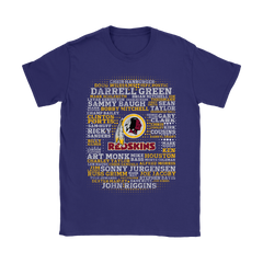 American Football All Players Team Washington Redskins Shirts Women T-Shirt - Catsolo.com