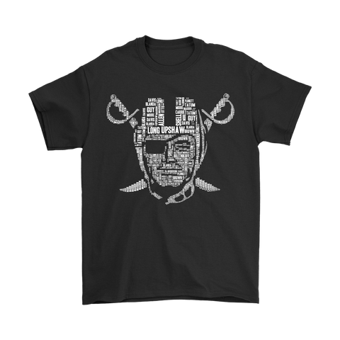 American Football NFL All Players Team Oakland Raiders Shirts S / Black / Men T-Shirt - Catsolo.com