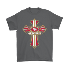 American Football Red Crusader Cross San Francisco 49ers NFL Shirts T-Shirt - Catsolo.com