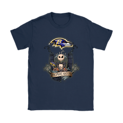 Baltimore Ravens Jack Skellington This Is Halloween NFL Shirts Women T-Shirt - Catsolo.com